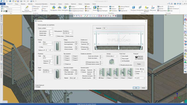 T-FLEX CAD - Balustrady 3D