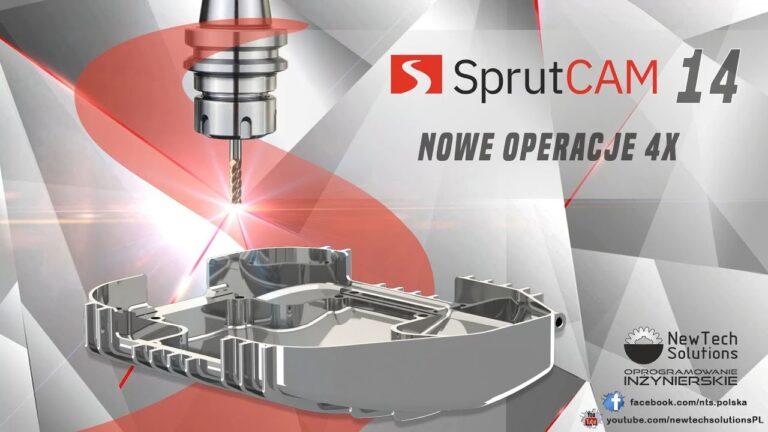 SprutCAM - Operacje 4X