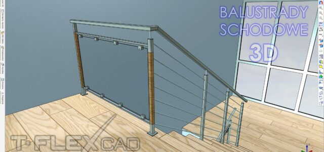 Balustrady schodowe w CAD